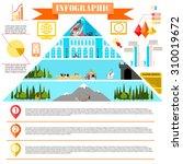 colorful change of eras... | Shutterstock . vector #310019672