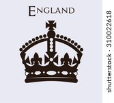 isolated british crown on a... | Shutterstock .eps vector #310022618