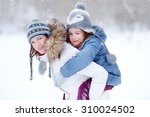 young mother and her daughter... | Shutterstock . vector #310024502
