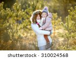 young mother and her daughter... | Shutterstock . vector #310024568