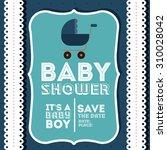 baby shower digital design ... | Shutterstock .eps vector #310028042