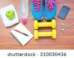 workout and fitness dieting... | Shutterstock . vector #310030436