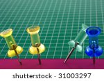 series of 4 colored pins ... | Shutterstock . vector #31003297