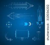 futuristic arrows design... | Shutterstock .eps vector #310036202