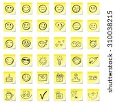 group emoticons  are drawn on a ... | Shutterstock .eps vector #310038215