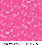 vector lingerie seamless... | Shutterstock .eps vector #310044725