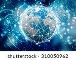 globe internet connecting | Shutterstock . vector #310050962