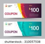 gift voucher card template... | Shutterstock .eps vector #310057538