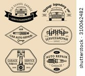 garage logos set. car repair... | Shutterstock .eps vector #310062482