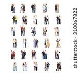 team over white corporate...   Shutterstock . vector #310067822