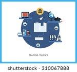 flat design modern illustration ... | Shutterstock . vector #310067888