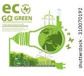 illustration environmentally... | Shutterstock .eps vector #310070192