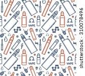vector seamless pattern of vape ... | Shutterstock .eps vector #310078496