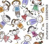 background cheerful children | Shutterstock .eps vector #310080968