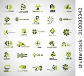 unusual icons set   isolated on ... | Shutterstock .eps vector #310085342