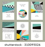 set of  creative universal... | Shutterstock .eps vector #310095026