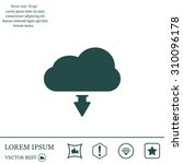 download from cloud icon. load...