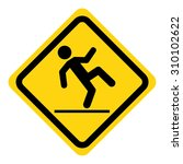 wet floor warning sign | Shutterstock .eps vector #310102622