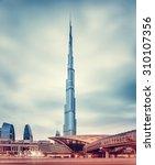 dubai  uae   february 09  burj... | Shutterstock . vector #310107356