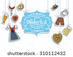 illustration of oktoberfest... | Shutterstock .eps vector #310112432