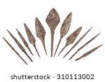 ancient arrowhead isolated on... | Shutterstock . vector #310113002