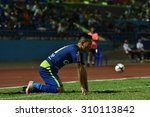 Small photo of AYUTTHAYA THAILAND-AUGUST19:Tanat Chantaya of Ayutthaya F.C.in action during Yamaha League One 2015 between Ayutthaya F.C.and Songkhla UTD at Ayutthaya Province Stadium on August19,2015in Thailand