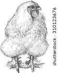 fluffy hen | Shutterstock .eps vector #310123676