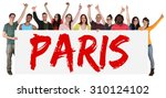 paris group of young multi... | Shutterstock . vector #310124102
