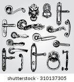set of doorknobs | Shutterstock .eps vector #310137305
