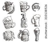 beer set. sketch elements for... | Shutterstock .eps vector #310138526
