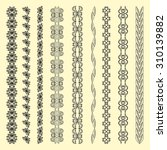 set of abstract  ornamental and ... | Shutterstock .eps vector #310139882