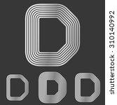 silver line d logo design set