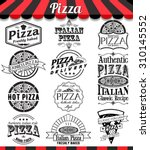 pizzeria menu vintage design... | Shutterstock .eps vector #310145552