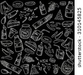 food and drink sketch style... | Shutterstock .eps vector #310145825
