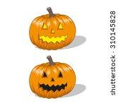 halloween jack o lantern ... | Shutterstock .eps vector #310145828