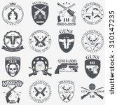 classic guns emblem with... | Shutterstock .eps vector #310147235