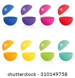 empty hollow open fillable... | Shutterstock .eps vector #310149758