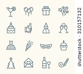 party line icons | Shutterstock .eps vector #310157132