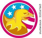 illustration of an american... | Shutterstock . vector #310167665