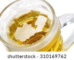 beer head  in the shaped of... | Shutterstock . vector #310169762