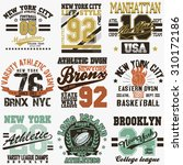 new york city typography... | Shutterstock .eps vector #310172186