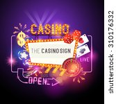 casino vector illustration... | Shutterstock .eps vector #310176332
