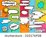 comic book speech bubbles... | Shutterstock .eps vector #310176938