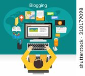 blogging illustration concept.  | Shutterstock .eps vector #310179098