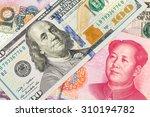 Us Dollar And Chinese Yuan...
