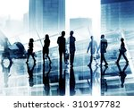 silhouette business people... | Shutterstock . vector #310197782
