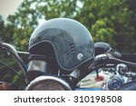 Close Up Old Motorcycle Vintag...