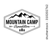 hipstermountain logo template | Shutterstock .eps vector #310202762