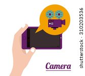 camera digital design  vector...   Shutterstock .eps vector #310203536