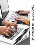 note pc  hand  business | Shutterstock . vector #310206962
